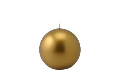 Candela sfera metallo 100 mm oro/argento/rame - Ceralacca