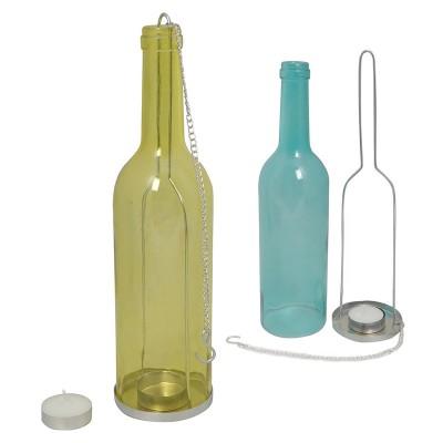 Bottiglia di vetro appendibile portatealight