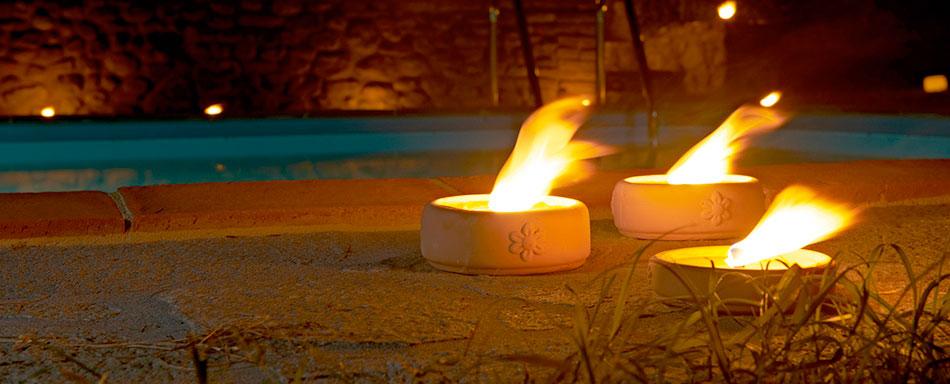 candele da esterno